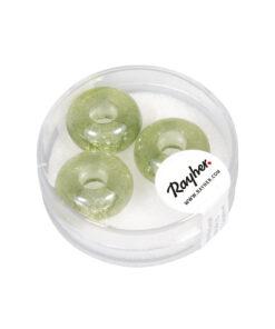 Magic Flair Glas Großloch Perlen, mintgrün