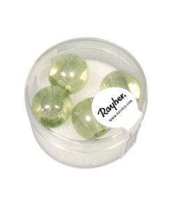 Magic Flair Glas Großloch Perlen, 14mm Ø, mintgruen