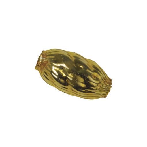 Böhmische Glas-Oliven in gold struktur