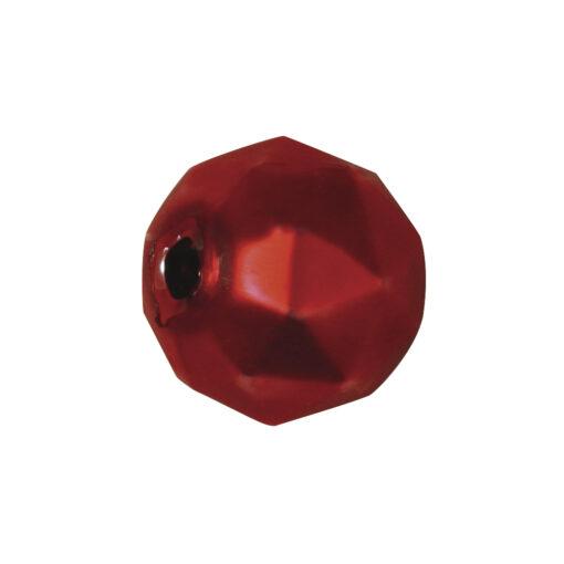 Böhmische Glas-Rundperlen, 13mm Ø, rot matt