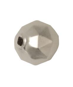 Böhmische Glas-Rundperle, 13mm Ø, weiß matt