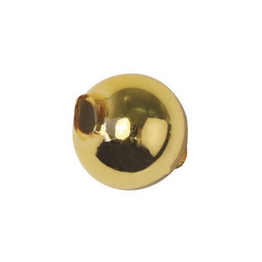 Böhmische Glas-Rundperlen, 12mm Ø, gold