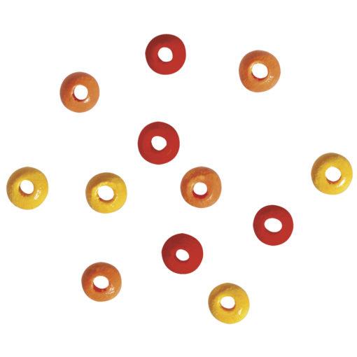 Rayher Holzperlen-Mischung rot, gelb, orange, 4mm Ø