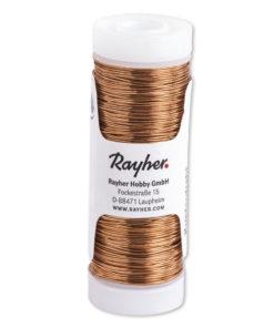 Rayher Kupferdraht, 0,25mm Ø, Spule 50m