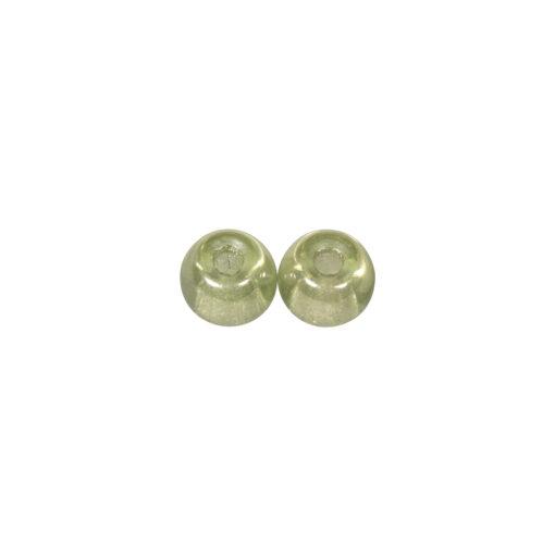 Glas Großlochperlen, 14mm, mintgrün, zur Schmuckgestaltung