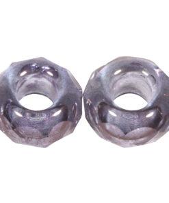 Glas-Schliffperle mit Großloch in flieder