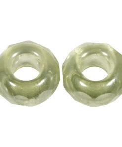 Glas-Schliffperle mit Großloch in mintgrün