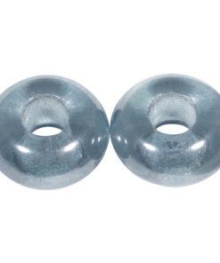 Magic Flair Glas Grosslochperlen, jeansblau, zur Schmuckgestaltung