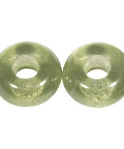 Glas Grosslochperlen zur Schmuckgestaltung in mintgrün