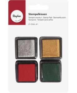 Rayher Tusche-Stempelkissen-Set mini, Christmas,