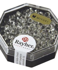 Miyuki Drop Perlen transparent mit Silbereinzug, bergkristall