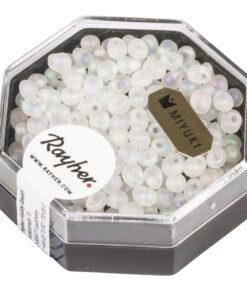 Miyuki Drop Perlen, gefrostet