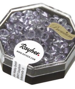 Magatama Perlen, gelüstert, hellviolett, zur Schmuckgestaltung