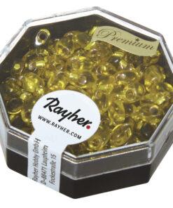 Magatama Perlen, Silbereinzug, goldgelb, zur Schmuckgestaltung