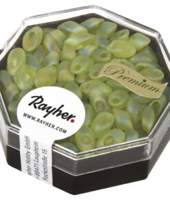Magatama Perlen Frost, apfelgrün, zur Schmuckgestaltung