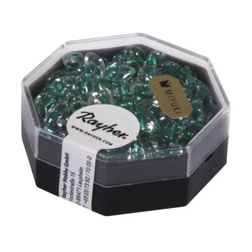 Magatama Perlen Frost, smaragd zur Schmuckgestaltung
