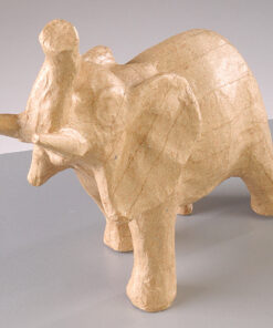 Pappmaché Figur Elefant zum Bemalen