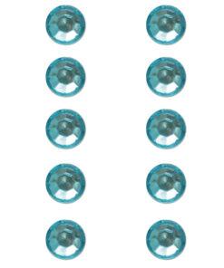 Strasssteine aus Plastik in türkis