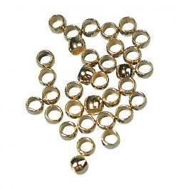 Quetschperle 2,5mm, gold, für Schmuckarbeiten