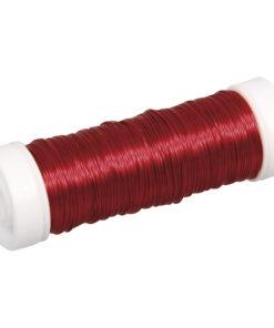 Schmuck-Häkeldraht rot, 0,30mm Ø, für Schmuckarbeiten