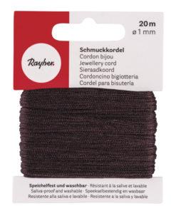 Rayher Schmuckkordel, dunkelbraun, 1mm Ø