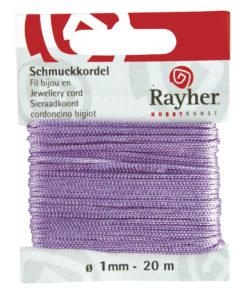 Rayher Schmuckkordel, flieder, 1mm Ø