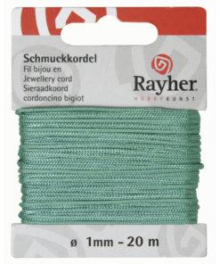 Rayher Schmuck-Kordel, mittelgrün, 1 mm Ø,