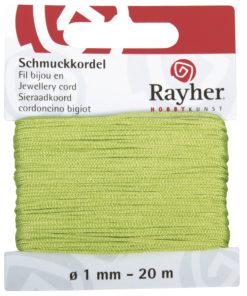 Rayher Schmuckkordel, hellgrün, 1mm Ø