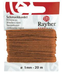 Rayher Schmuckkordel, kastanie, 1mm Ø