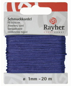 Rayher Schmuckkordel, mittelblau, 1mm Ø