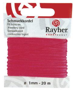 Rayher Schmuckkordel, pink, 1mm Ø