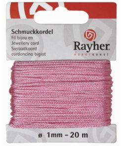 Rayher Schmuckkordel, rosé, 1mm Ø