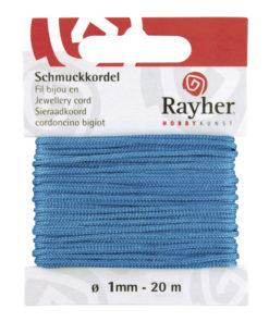 Rayher Schmuck-Kordel, türkis, 1mm Ø