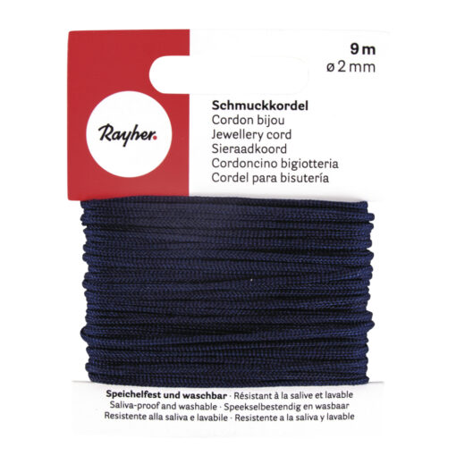 Rayher Schmuckkordel, 2mm Ø, dunkelblau