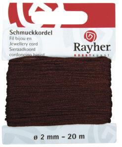 Rayher Schmuckkordel, 2mm Ø, dunkelbraun