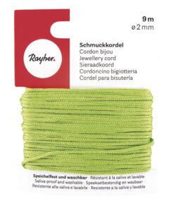 Rayher Schmuckkordel, 2mm Ø, hellgrün
