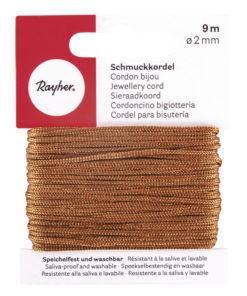 Rayher Schmuckkordel kastanie, 2 mm Ø