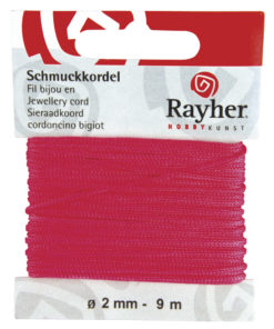 Rayher Schmuckkordel pink, 2 mm Ø