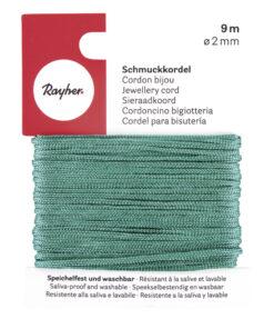 Rayher Schmuckkordel, 2mm Ø, grün