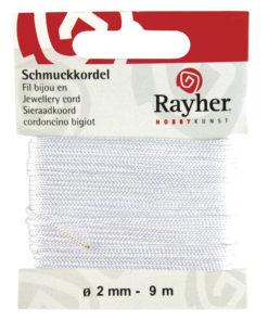Rayher Schmuckkordel weiss, Ø 2 mm