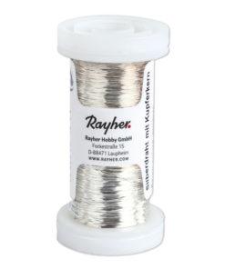 Rayher Silberdraht, mit Kupferkern, 0,30mm Ø, Rolle