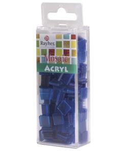 Rayher Acryl-Mosaik Steine, azurblau, zum Basteln