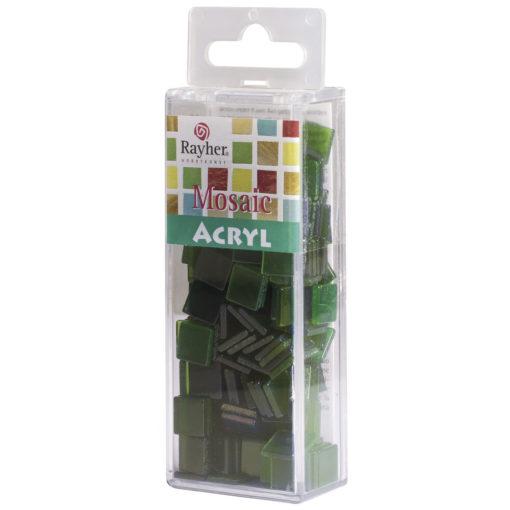 Rayher Acryl-Mosaik Steine, jade, zum Basteln