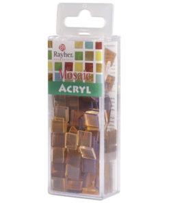 Rayher Acryl-Mosaik Steine, kaffecreme, zum Basteln