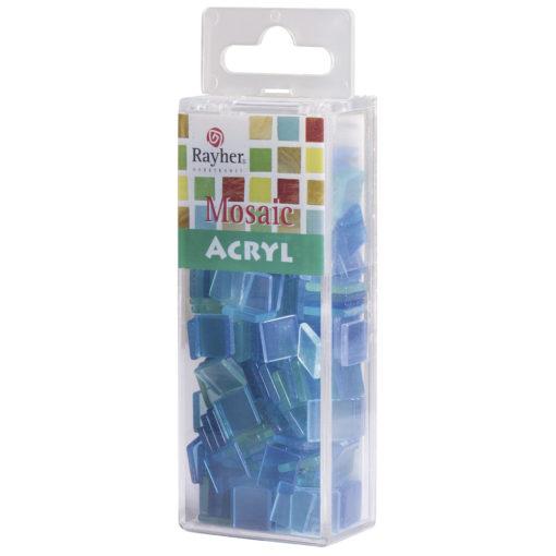 Rayher Acryl-Mosaik Steine, lagune, zum Basteln