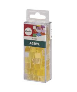 Rayher Acryl-Mosaik Steine, lichtgelb, zum Basteln