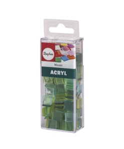 Rayher Acryl-Mosaik Steine, lindgrün, zum Basteln
