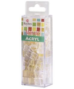 Rayher Acryl-Mosaik Steine, mondstein, zum Basteln