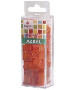Rayher Acryl-Mosaik Steine, orange, zum Basteln