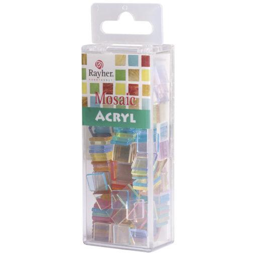 Rayher Acryl-Mosaik Steine,pastell, zum Basteln